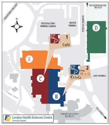 Victoria Hospital London Map Zone E.Cafe Hours And Contacts
